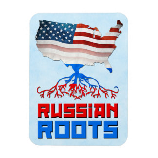 Russian American Roots Flexi Magnet