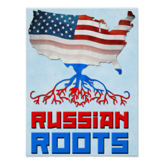 Russian American Roots Poster Prints