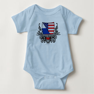 Russian-American Shield Flag Baby Bodysuit