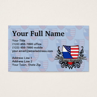 Russian-American Shield Flag Business Card