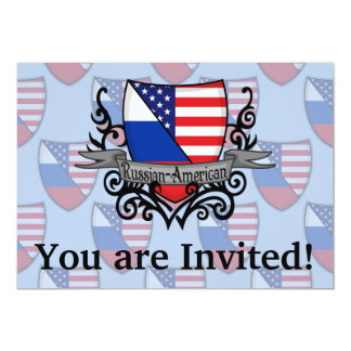 Russian-American Shield Flag Card