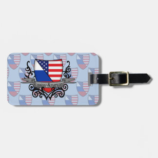 Russian-American Shield Flag Tag For Bags
