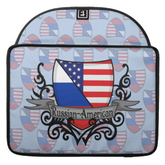 Russian-American Shield Flag MacBook Pro Sleeves
