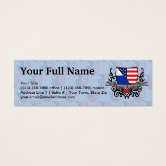 Russian-American Shield Flag Mini Business Card