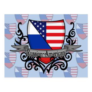 Russian-American Shield Flag Postcard