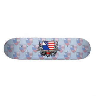 Russian-American Shield Flag Skateboard