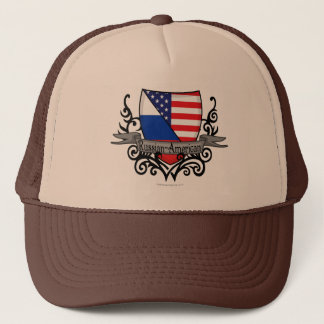 Russian-American Shield Flag Trucker Hat
