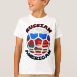 Russian American Soccer Ball T-Shirt