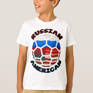 Russian American Soccer Ball T-Shirt