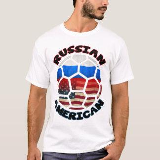 Russian American Soccer Ball Tee