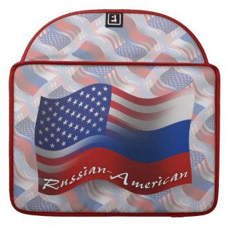 Russian-American Waving Flag Sleeves For MacBook Pro