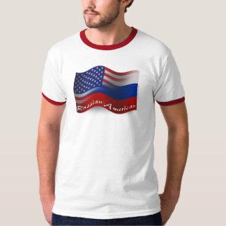 Russian-American Waving Flag Shirt