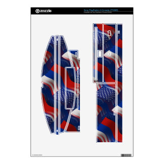 Russian-American Waving Flag Skin For PS3 Console