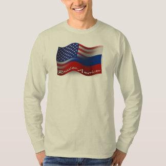 Russian-American Waving Flag T-shirt
