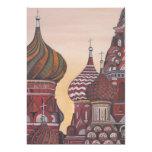 """Russian Architecture 5"""" X 7"""" Invitation Card"""
