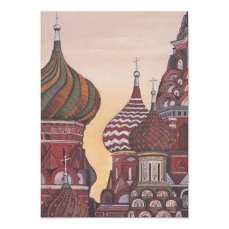 Russian Architecture 5x7 Paper Invitation Card