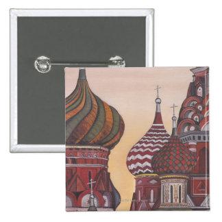 Russian Architecture Pinback Button