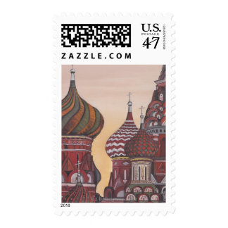 Russian Architecture Stamp