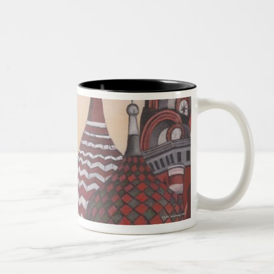 Russian Architecture Two-Tone Coffee Mug