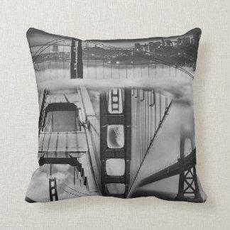 Russian Avant Garde Inspired Golden Gate Bridge Throw Pillow