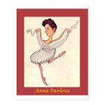Russian Ballerina Caricature ~ Anna Pavlova Postcard