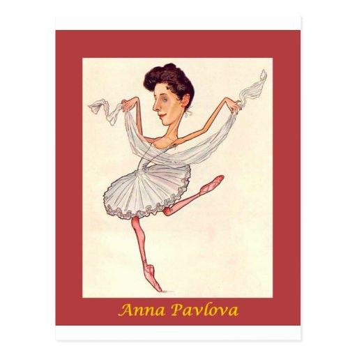 Russian Ballerina Caricature ~ Anna Pavlova Postcards