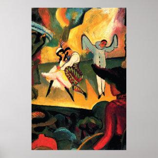 Russian Ballet ~ August Macke Posters