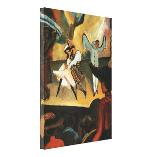 Russian Ballet by August Macke Stretched Canvas Print