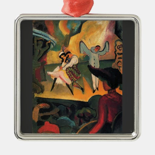 Russian ballet by August Macke Christmas Ornaments