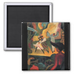 Russian ballet by August Macke Magnets