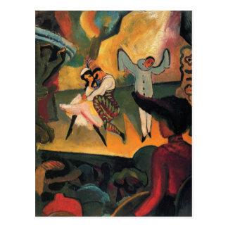 Russian ballet by August Macke Postcard