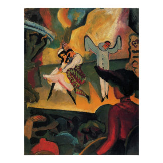 Russian ballet by August Macke Poster