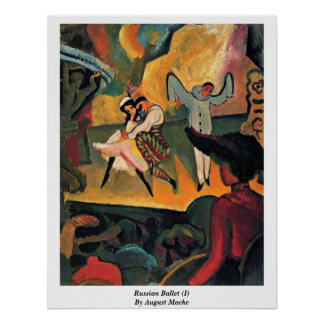 Russian Ballet (I) By August Macke Posters