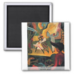 Russian Ballet (I) By Macke August Refrigerator Magnets