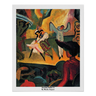 Russian Ballet (I) By Macke August Poster
