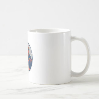 Russian Bear Arms Folded Circle Retro Coffee Mug