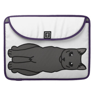 Russian Black Cat Cartoon MacBook Pro Sleeve