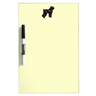 Russian Black Terrier Dry Erase Board