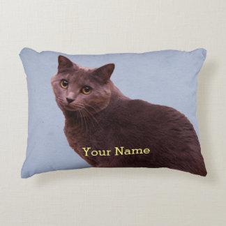 Russian Blue Cat Accent Pillow