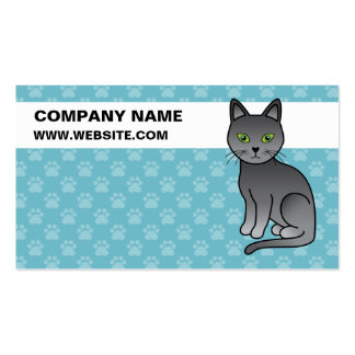Russian Blue Cat Business Cards