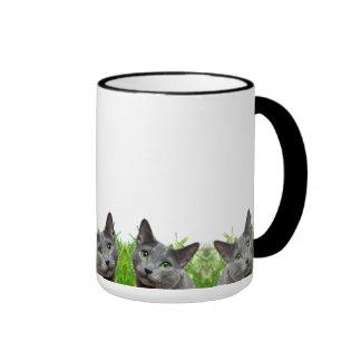Russian Blue Cat Classic White Mug