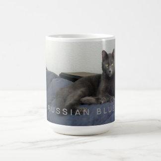 Russian Blue Cat Coffee Mug - Miss Lola Kitty