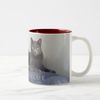 Russian Blue Cat Coffee Mug - Miss Lola Kitty