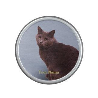 Russian Blue Cat Looking Bluetooth Speaker