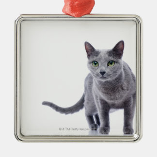 Russian Blue Cat Metal Ornament