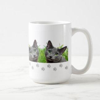 Russian Blue Cat  Mug