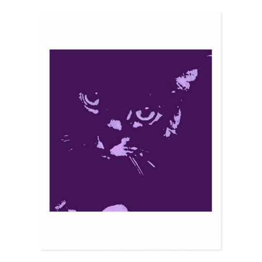 Russian Blue Cat Pop Art Postcard