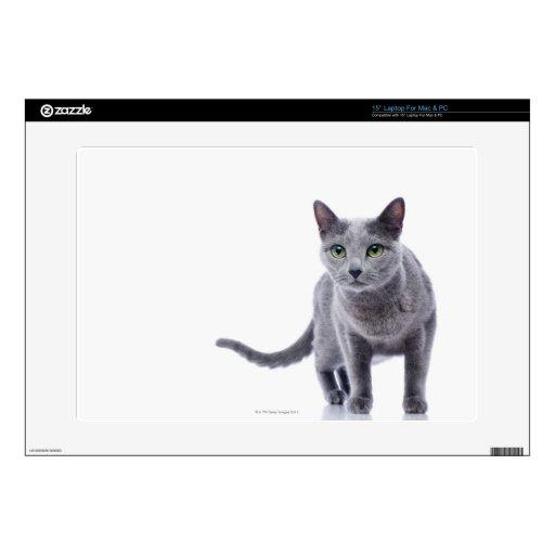 "Russian Blue Cat Skin For 15"" Laptop"