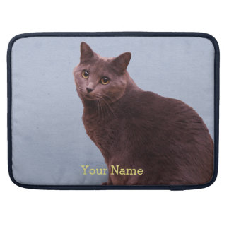 Russian Blue Cat Staring Sleeve For MacBook Pro
