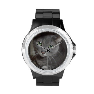 Russian Blue Cat Wristwatches